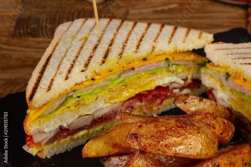 Foto Murales Delicious chef sandwich