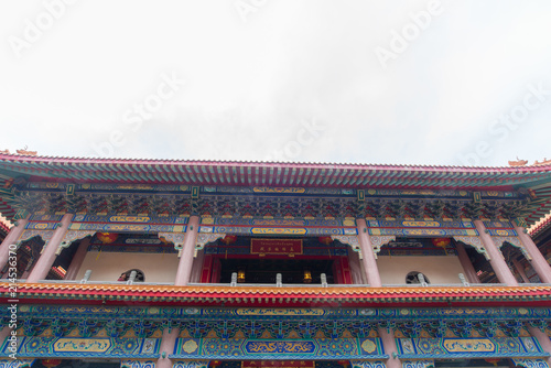 Plexiglas Peking Nonthaburi, Thailand july 21 2018-Chinese temple The Dragon Temple is a landmark sasot na. White Wednesday-attractions in Thailand plant, Lotus, gold country, abang uncovered.