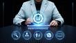 Performance Management Efficiency Improvement Business Technology concept