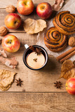 Traditional mulled wine in mug with pastry - 214570307