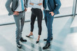 Leinwanddruck Bild - cropped shot of group of male and female business people at modern office