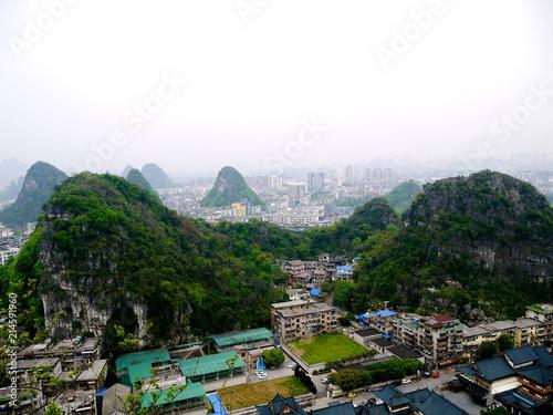 Fotobehang Guilin 桂林の山々