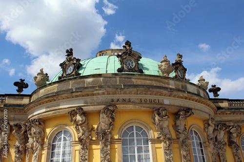 Foto Murales Die Schlossanlage Sanssouci in Potsdam.