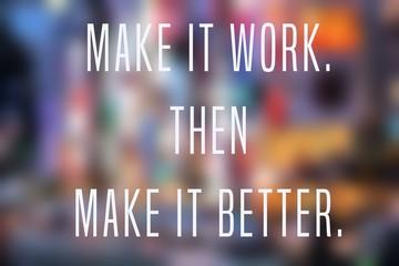 Business inspiration text