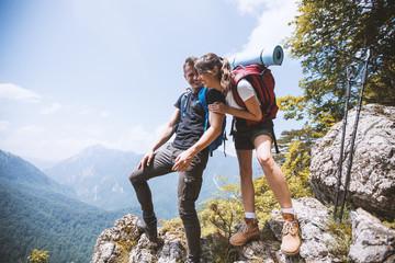 Hikers enjoying on the hiking trip