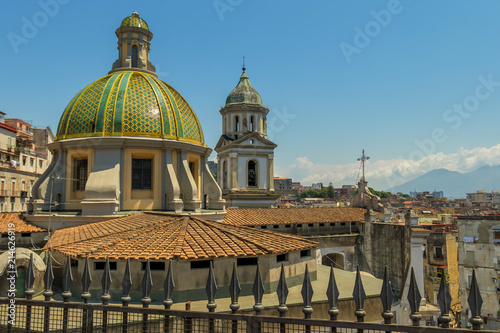 Fotobehang Napels Church roof in Naples
