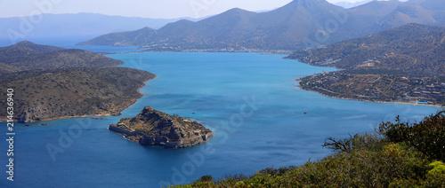 Bucht der Halbinsel Spinalonga, Insel Kreta, Griechenland, Europa, Panorama - 214636940