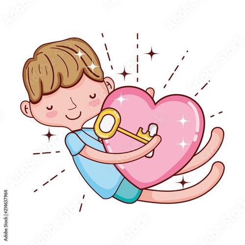 Child Boy Sleeping With Key And Padlock Heart Buy Photos Ap
