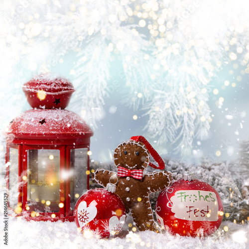 Leinwandbild Motiv Christmas light Background