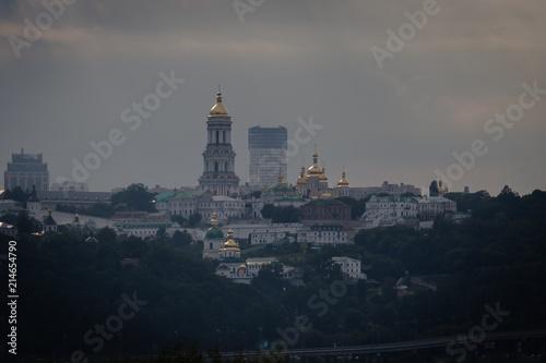 In de dag Kiev Famous Pechersk Lavra Monastery complex in Kiev, Ukraine