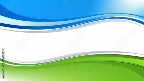 In de dag Abstractie абстрактный фон из голубых и зелёных волн