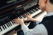 Leinwandbild Motiv Pianist playing music on grand piano
