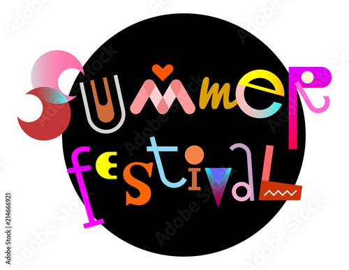 In de dag Abstractie Art Summer Festival text