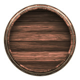 Wooden barrel isolated on white - Clipping mask included - 214671169