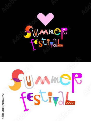 In de dag Abstractie Art Summer Festival text design