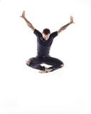 Young beautiful dancer is posing in studio - 214674767