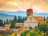 Basilica San Miniato al Monte in Florence, Tuscany, Italy.