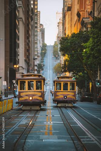 Canvas San Francisco San Francisco Cable Cars on California Street, California, USA
