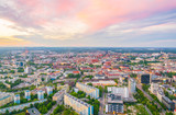 Sunset aerial view of Wroclaw, Poland