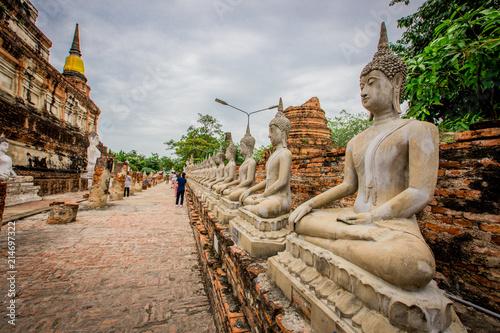 Plexiglas Thailand Ayutthaya: July 8, 2018, tChaimongkol Phra Nakhon Si Ayutthaya Province ,thailand.