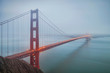 Golden Gate Bridge on a Foggy Morning