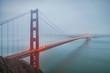 Golden Gate Bridge on a Foggy Morning