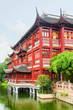 Quadro Scenic traditional red Chinese building in Shanghai, China