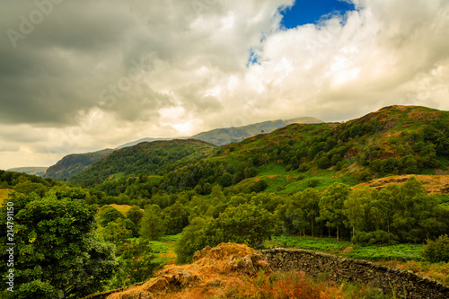 Fotobehang Beige Lake District in England