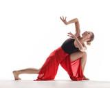 Beuatiful female dancer. White background - 214794394