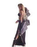 Beuatiful female dancer. White background - 214794959