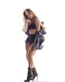 Beuatiful female dancer. White background - 214794974