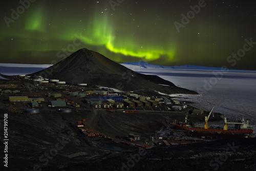 Foto Spatwand Antarctica Mcmurdo Aurora