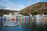 Traditional Colorful Greek Fishing Village Houses in Klima, Milos, Cyclades, Greece - 214805978