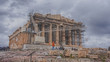 Parthenon in Acropolis under reconstruction, Athens, Greece