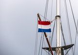 Netherlands flag moving in the breeze - 214822328