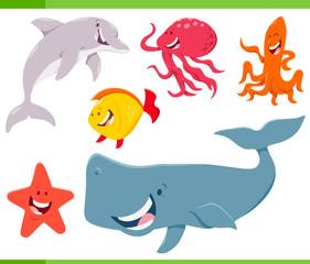 sea life animals cartoon characters set © Igor Zakowski