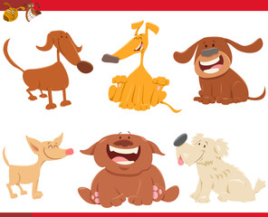 cute happy dogs cartoon characters © Igor Zakowski