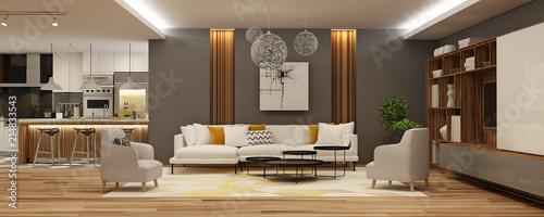 Modern house interior - 214833543