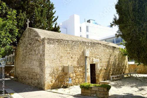 In de dag Cyprus Paphos small ancient church