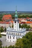 Architecture of the historical town hall in Chelmno, Poland - 214839140