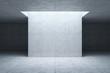 Leinwanddruck Bild - blank concrete space interior, 3d rendering