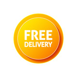 Free delivery circular icon on white background - 214844972