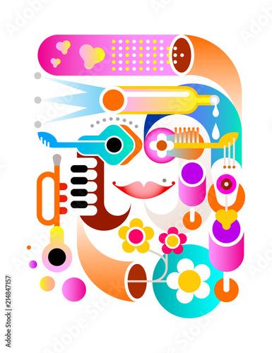 In de dag Abstractie Art Music Festival vector artwork