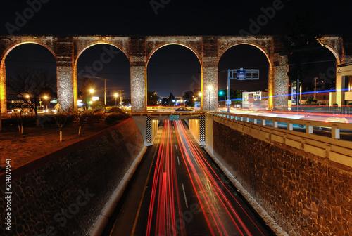 Queretaro's Aqueduct at Night