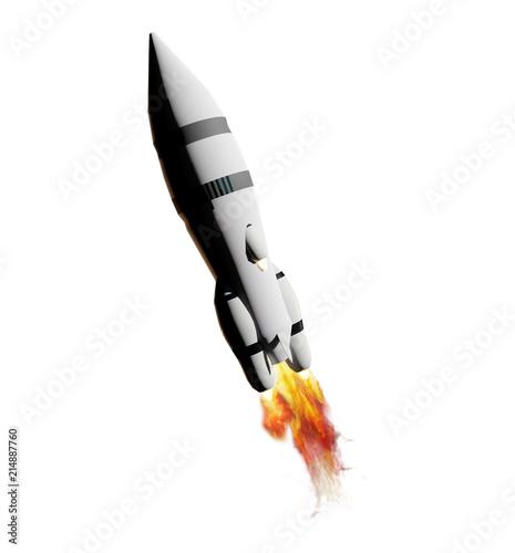 Fototapeta transport rocket 3d-illustration