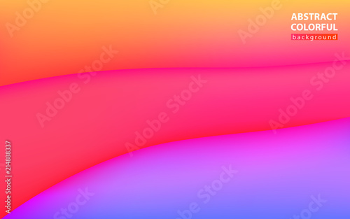Aluminium Abstractie Colorful background, waves, volume, trend vector