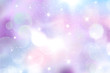 Winter blue blurred background.
