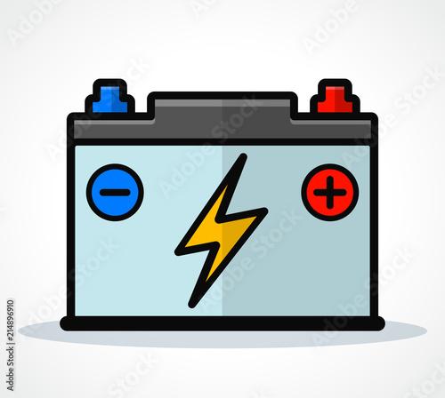 Fotobehang Auto Vector car battery icon design
