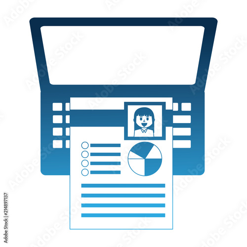 Laptop Computer With Curriculum Vitae Icon Buy Photos Ap Images