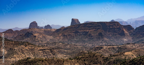 Canvas Cappuccino Äthiopien - Landschaft auf der Fahrt vom Sämen-Nationalpark nach Aksum